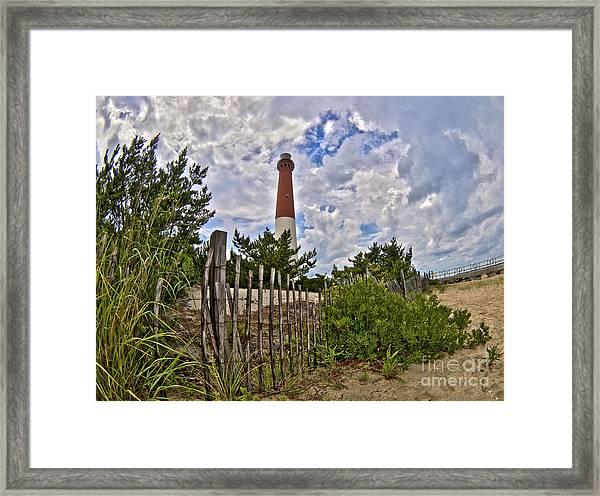 Beach View Of Barney Framed Print