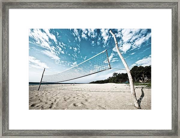 Beach Volleyball Net Framed Print