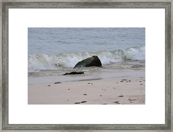 Beach Wave Framed Print by Rebecca Jayne