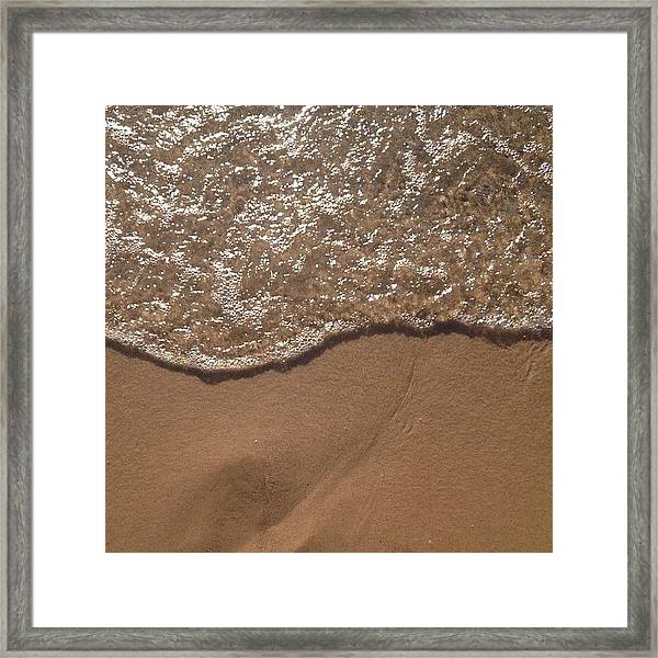 Beach Where The Water Meets The Sand Framed Print