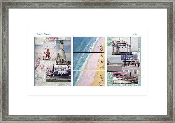 Beaches Group Framed Print