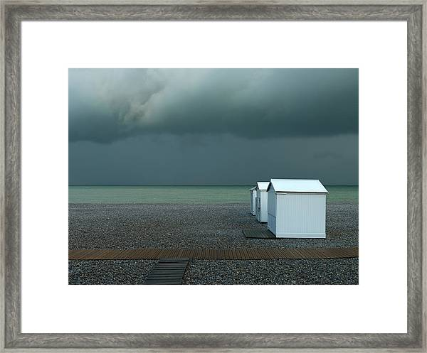 Beachhouses Framed Print