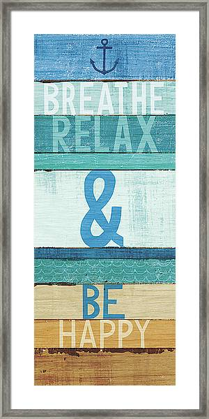 Beachscape Inspiration I Framed Print
