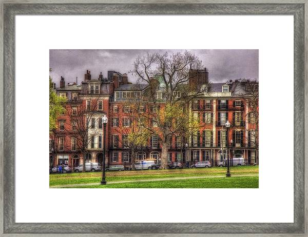 Beacon Street Brownstones - Boston Framed Print