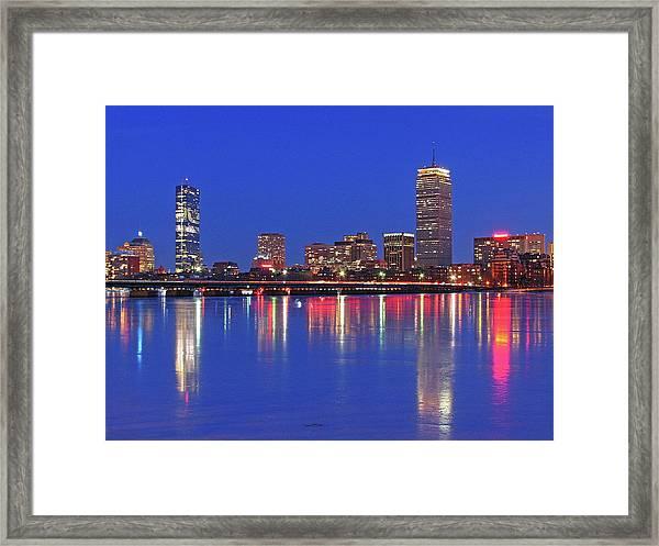 Beantown City Lights Framed Print