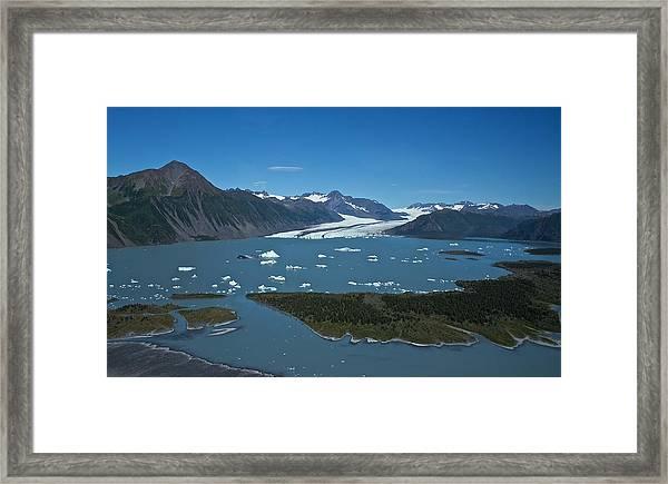 Bear Glacier Seward Alaska Framed Print