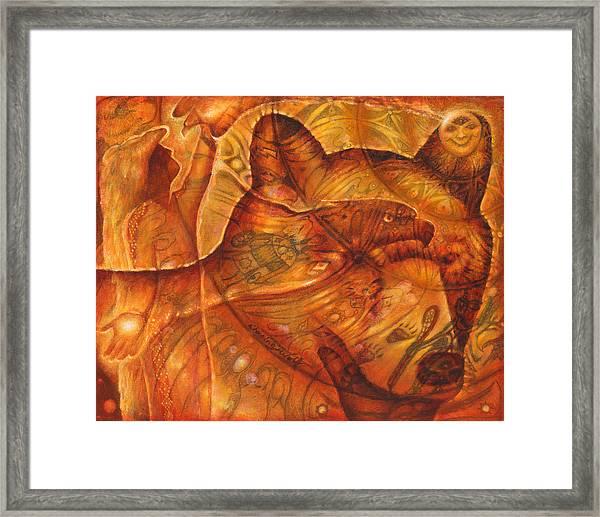 Bear Hands Framed Print