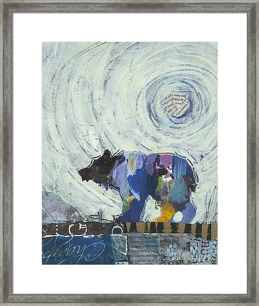 Framed Print featuring the painting Bear IIi by Shelli Walters