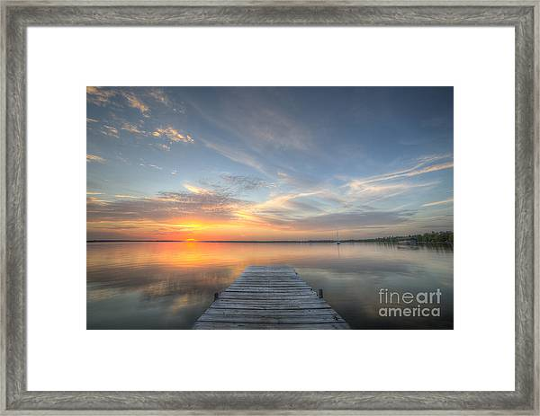Bear Lake Sunset Framed Print by Twenty Two North Photography