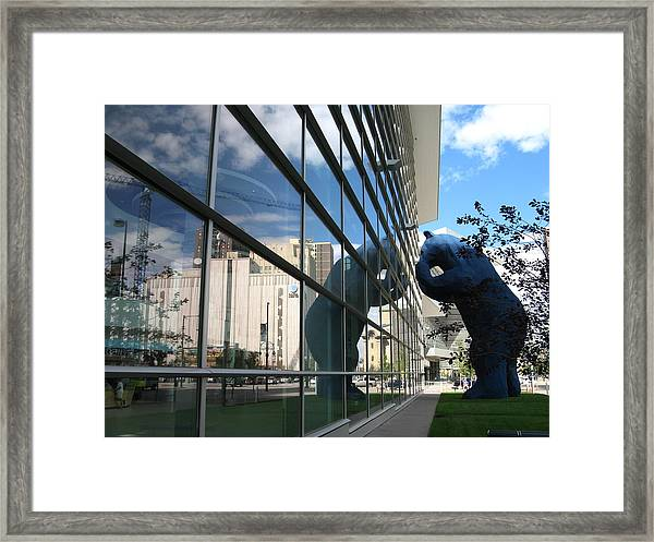 Bear Looking In Framed Print
