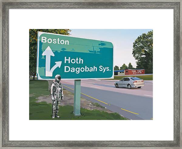 Bear Right For Hoth Framed Print