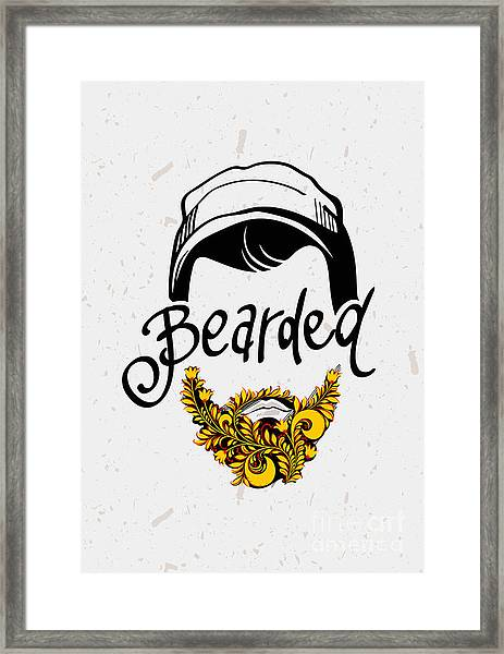 Beard And Mustache. Traditional Russian Framed Print