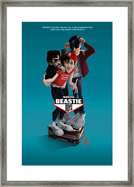 Beatie Boys_the New Style 2 Framed Print