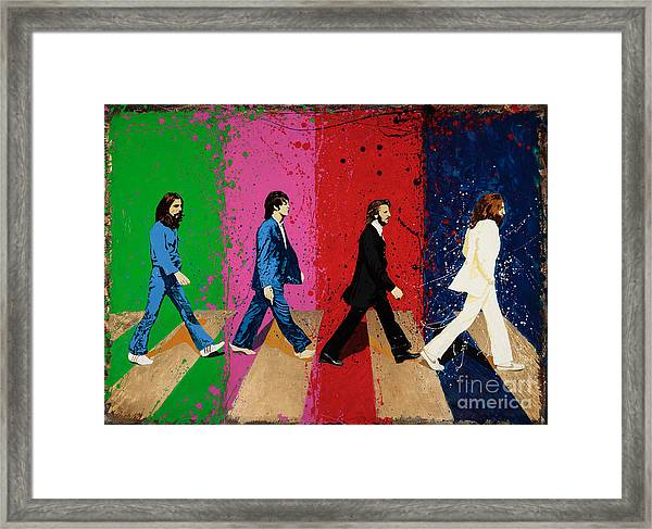 Beatles Crossing Framed Print