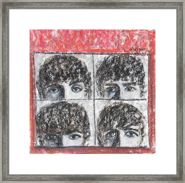 Beatles Hard Day's Night Framed Print