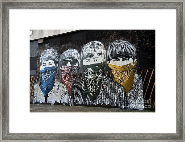 Beatles Street Mural Framed Print