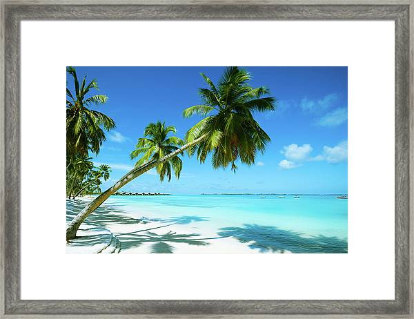Beautiful Beach Resort Framed Print