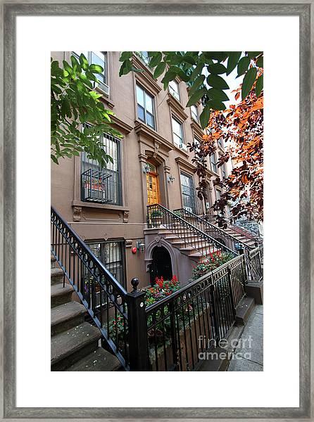 Beautiful Brownstone Home Framed Print