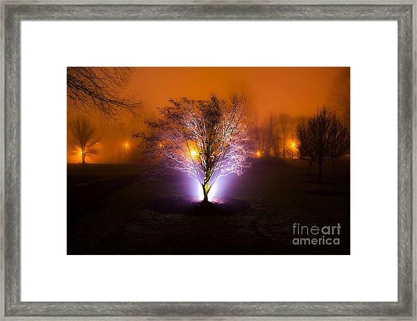 Beautiful Foggy Night 2 Framed Print