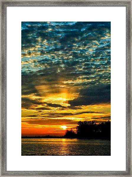 Beautiful Gulf Of Mexico Sunset Framed Print