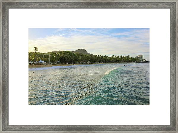 Beautiful Kuhio Beach Framed Print