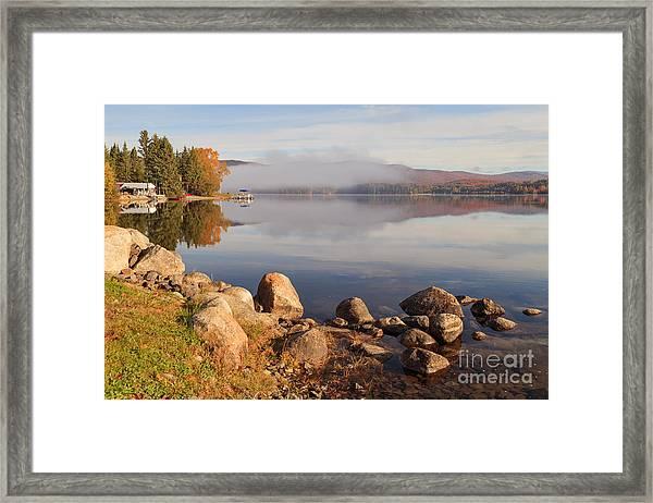 Beautiful Morning On Island Pond Framed Print