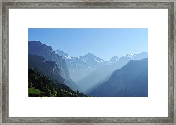 Beautiful Mountain Range Framed Print