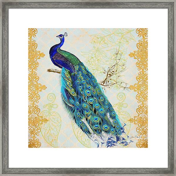 Beautiful Peacock-b Framed Print