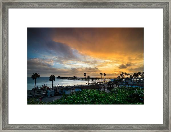 Beautiful Southern California Sunset Framed Print