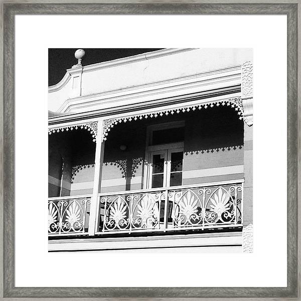 Beautiful Balcony Framed Print