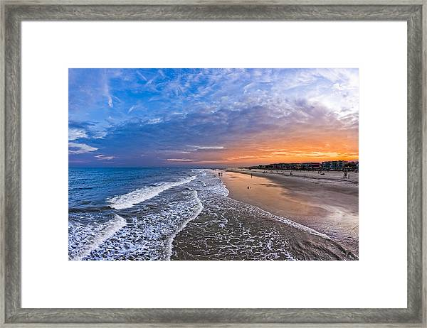 Beautiful Sunset Over Tybee Island Framed Print