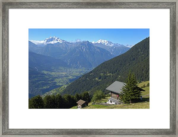 Beautiful View From Riederalp - Swiss Alps Framed Print