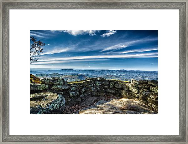 Beautiful View Of Mountains And Sky Framed Print