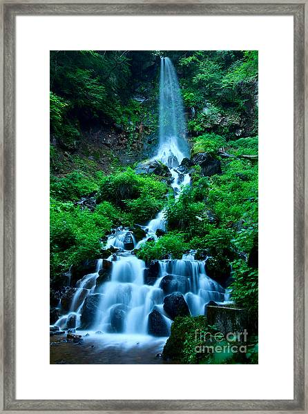 Beautiful Waterfalls In Karuizawa Japan Framed Print