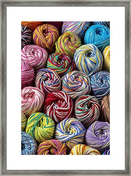 Beautiful Yarn Framed Print