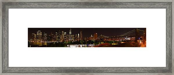 Beauty From Brooklyn Bridge Park Framed Print