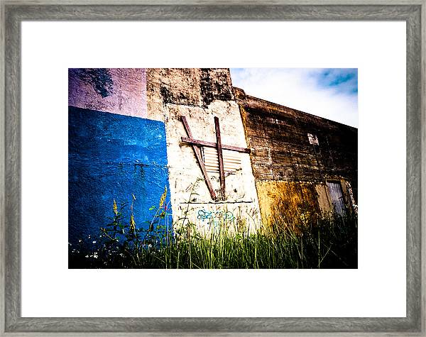 Beauty In Concrete  Framed Print