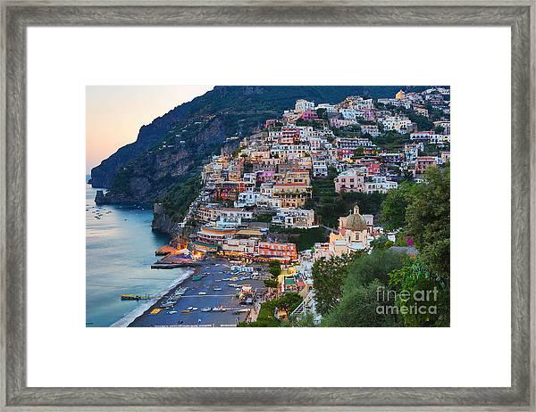 Beauty Of The Amalfi Coast  Framed Print