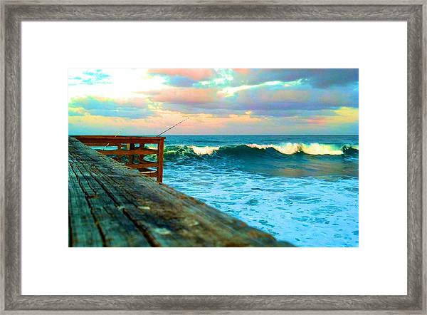 Beauty Of The Pier Framed Print