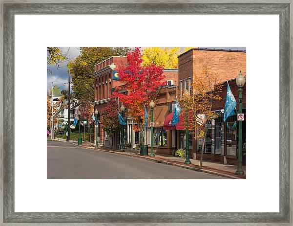 Beaver St  Sewickley Framed Print