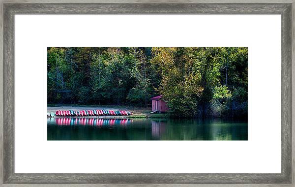 Beavers Bend Reflection Framed Print