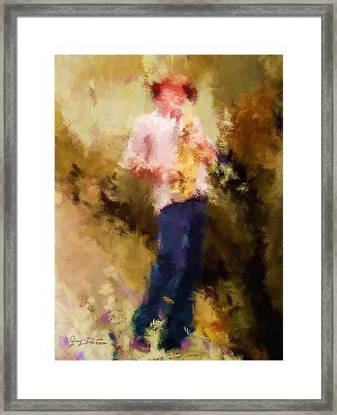 Bebop Sax Man Framed Print