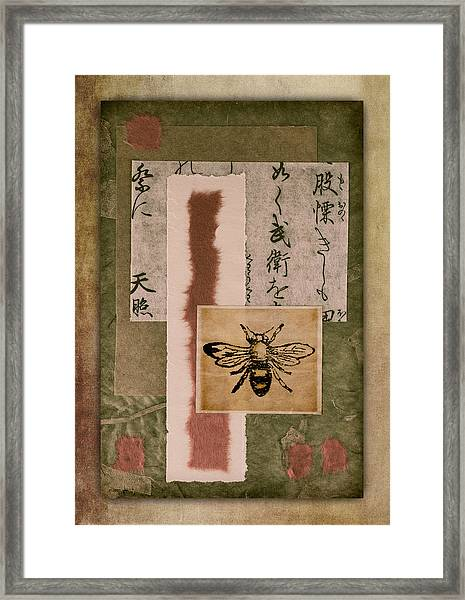 Bee Papers Framed Print