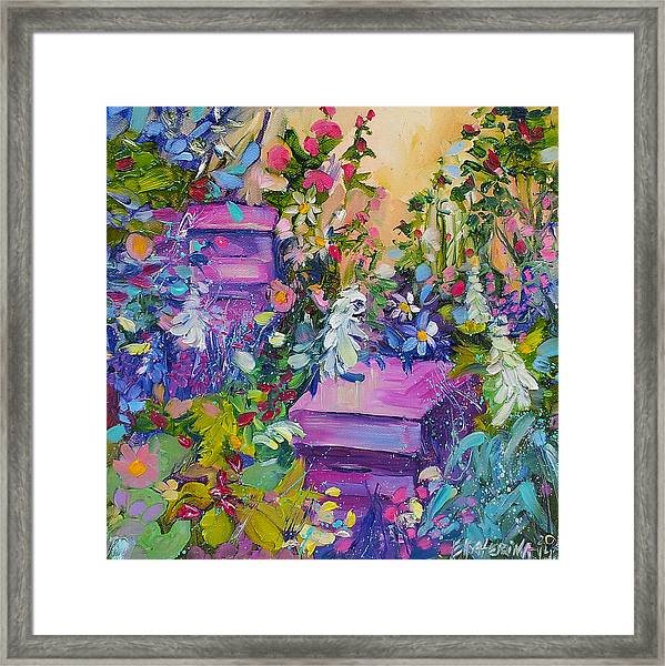 Beehives In The Garden Framed Print