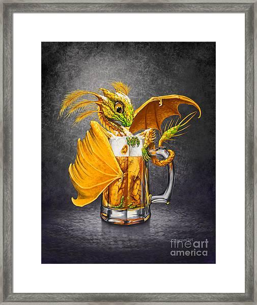 Beer Dragon Framed Print
