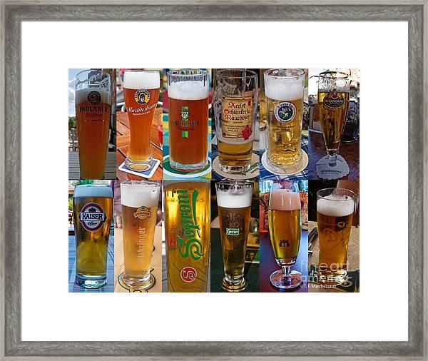 Beers Of Europe Framed Print