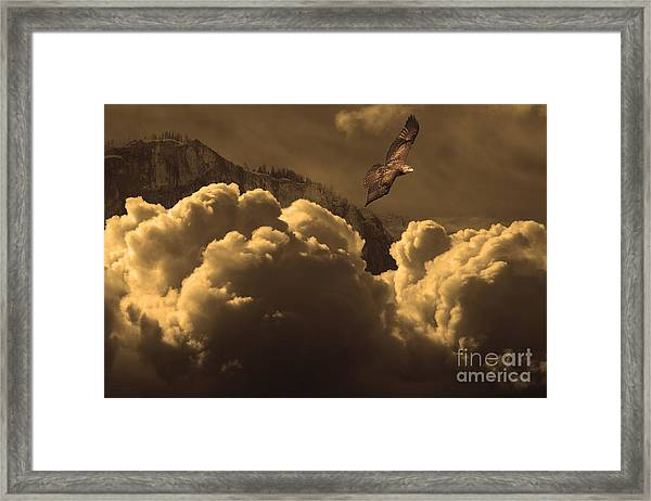 Before Memory . I Have Soared With The Hawk Framed Print