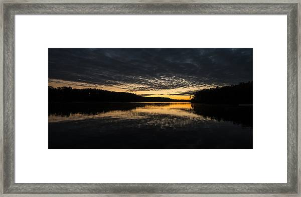 Before Sunrise At The Lake Framed Print