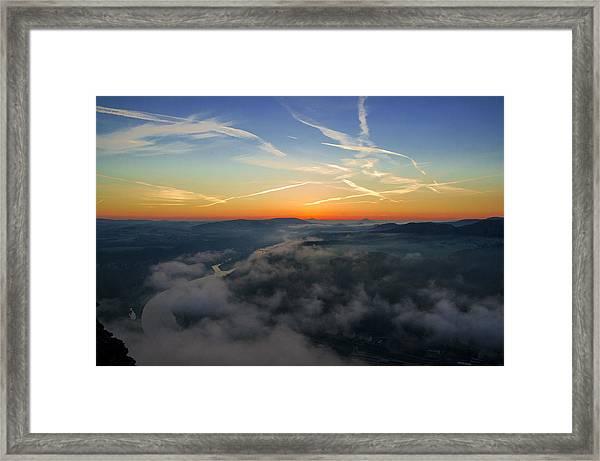 Before Sunrise On The Lilienstein Framed Print