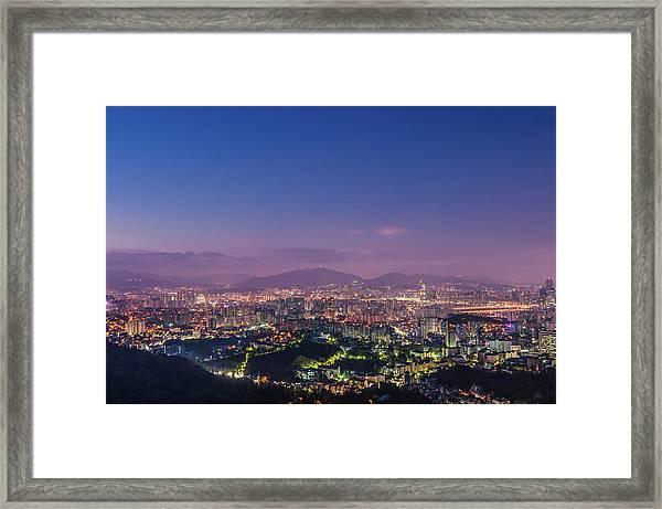 Before The Dawn In Seoul Framed Print